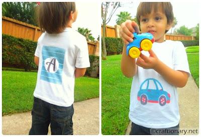 kids painted shirt