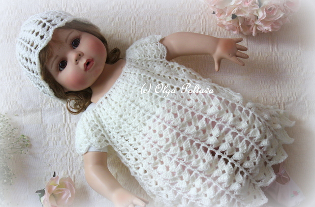 Lacy Crochet: Victorian Crochet Baby Dress and Hat