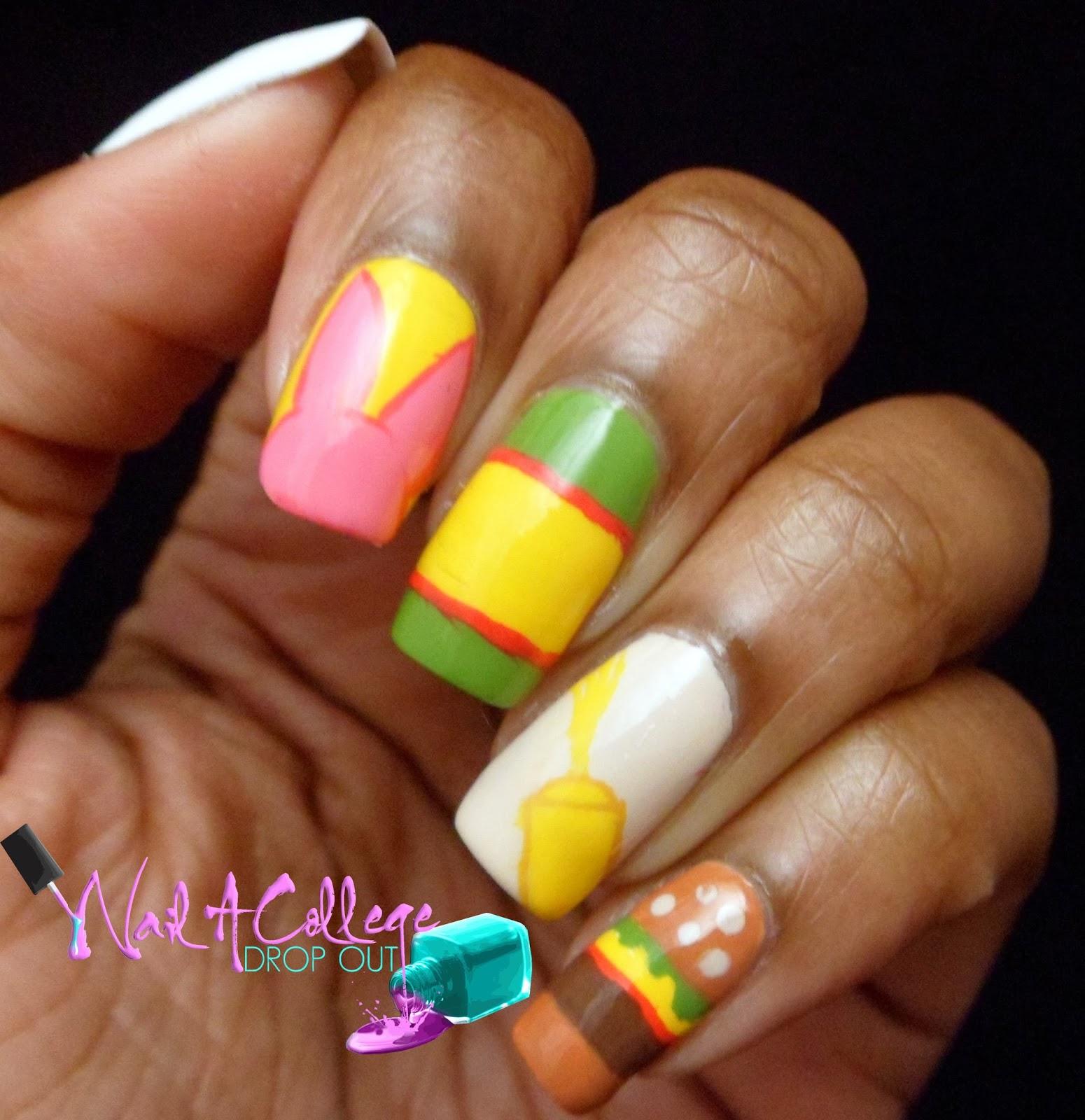 nail a college drop out bob s burgers netflix nail art