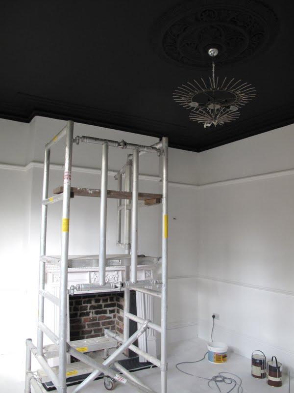47 park avenue september 2011 for Black ceiling paint