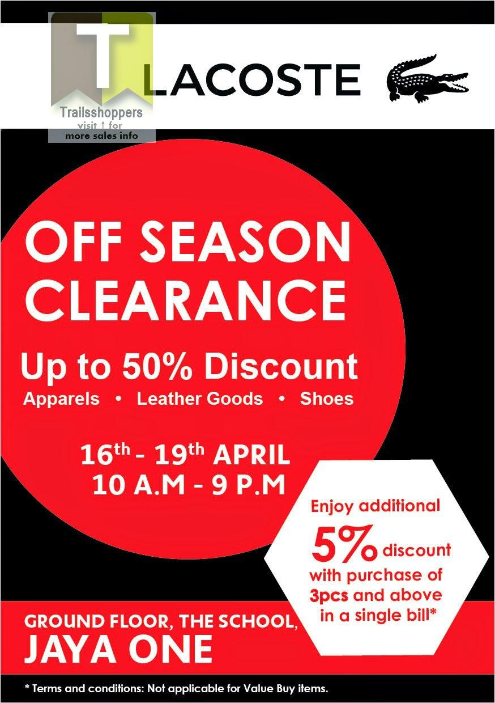 Lacoste Malaysia Clearance Sale