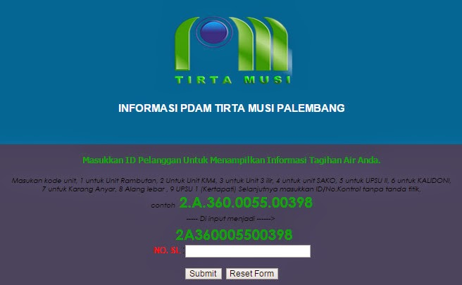 Tagihan PDAM air online