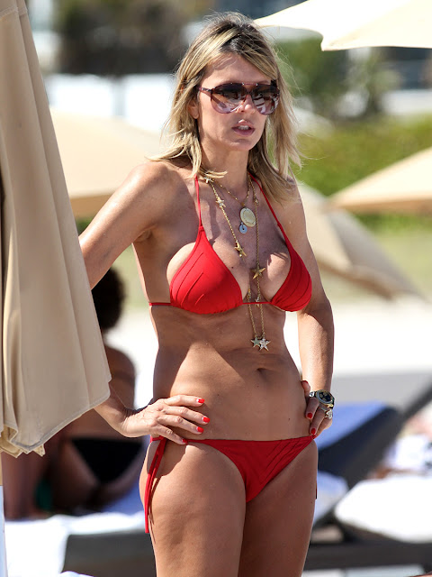 Rita Rusic Red Bikini Nipple Slip In Miami Gutteruncensored