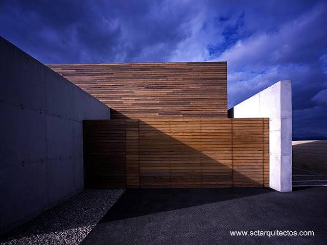 Detalle de arquitectura en casa contemporánea de Mallorca
