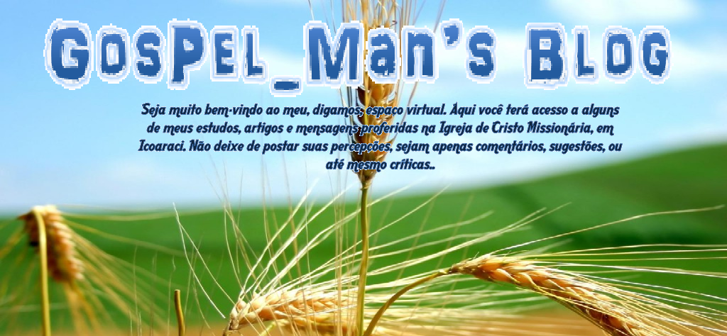 GosPel_Man's Blog