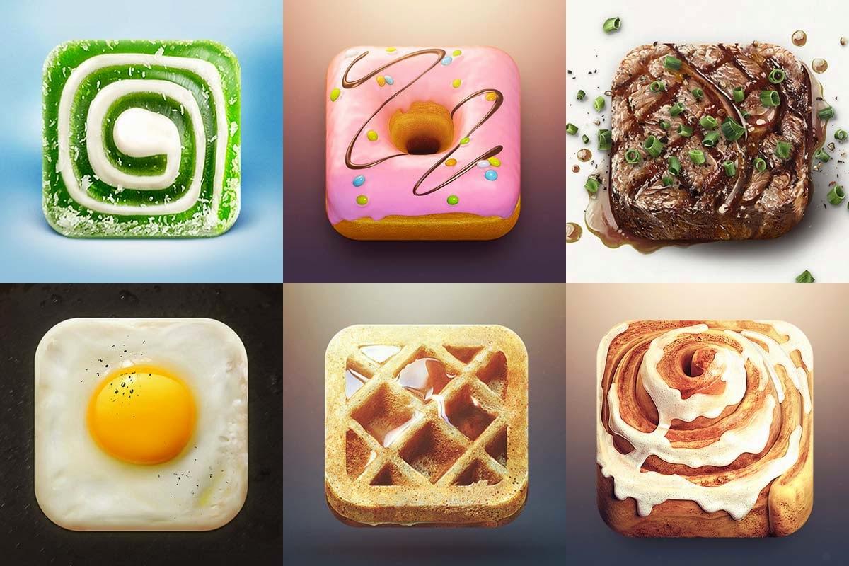 iconos para apps de comida