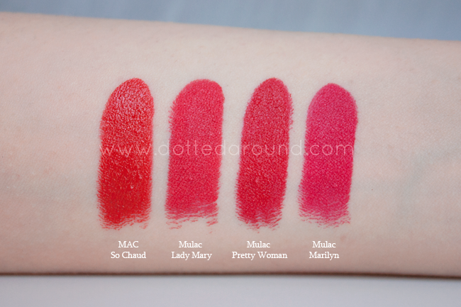 Mulac lady mary lipstick swatch
