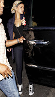 Rihanna getting out of her car