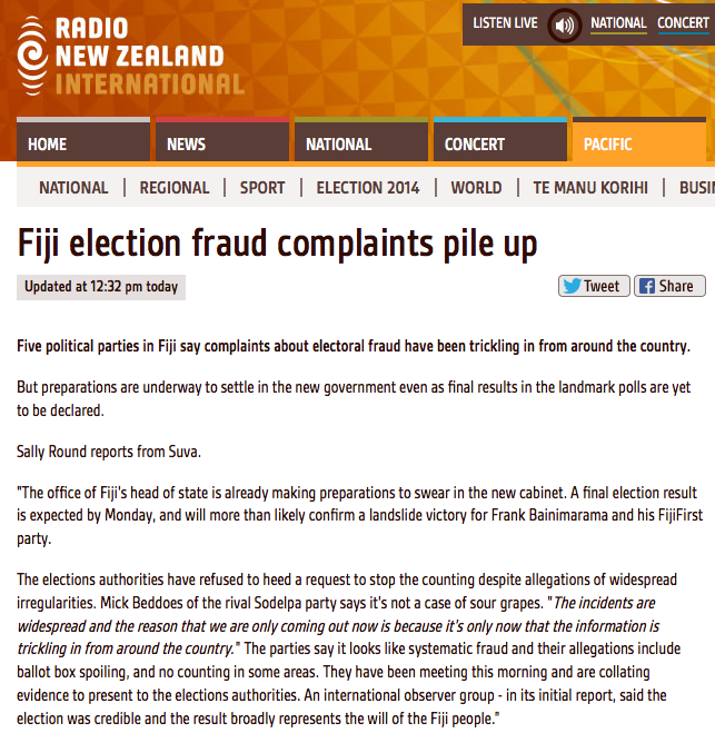 http://www.radionz.co.nz/news/pacific/255017/fiji-election-fraud-complaints-pile-up
