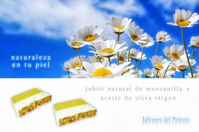 Jabón Natural de Manzanilla y Aceite de Oliva