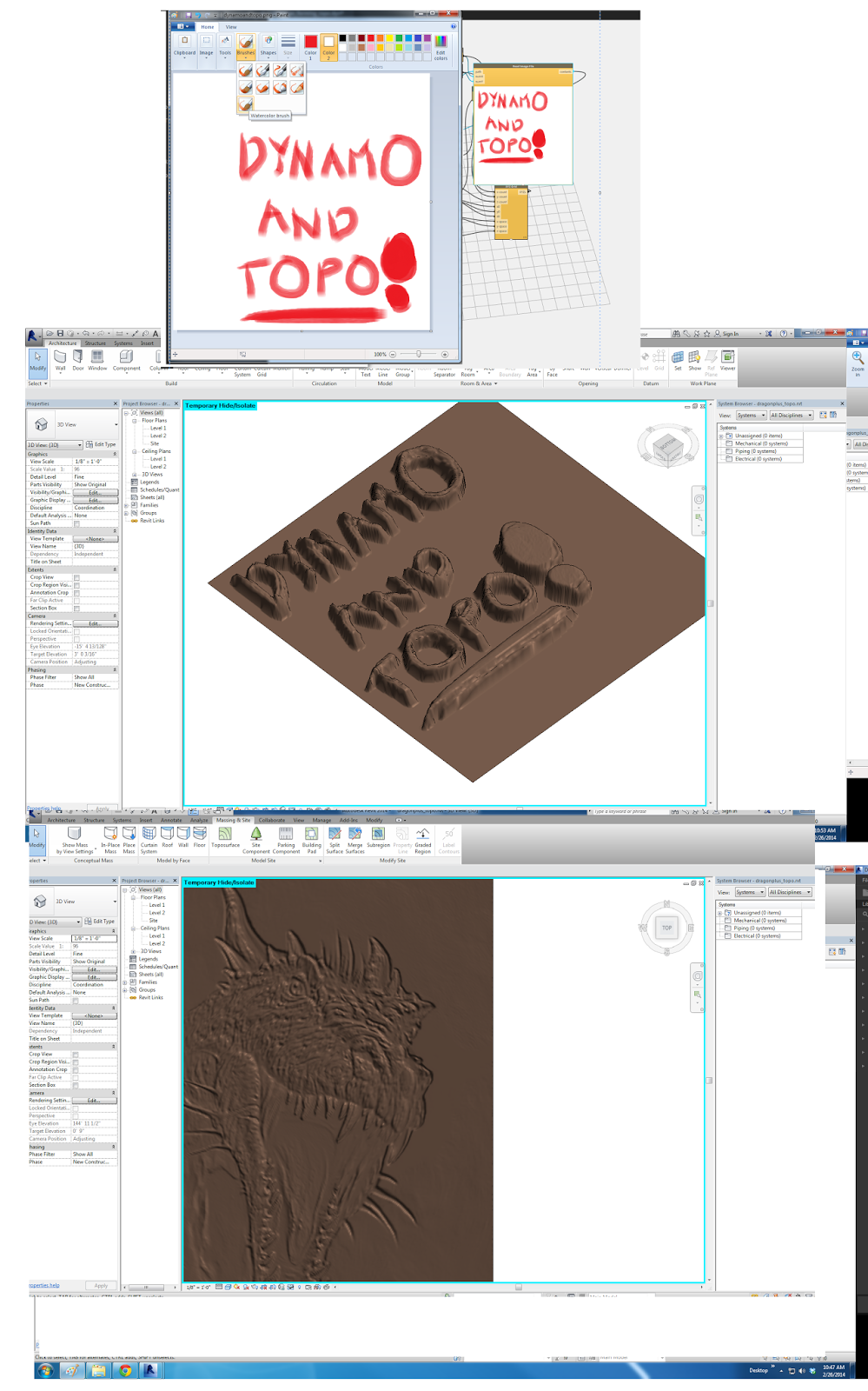 Dynamo for Revit and Topography and your Thoughts