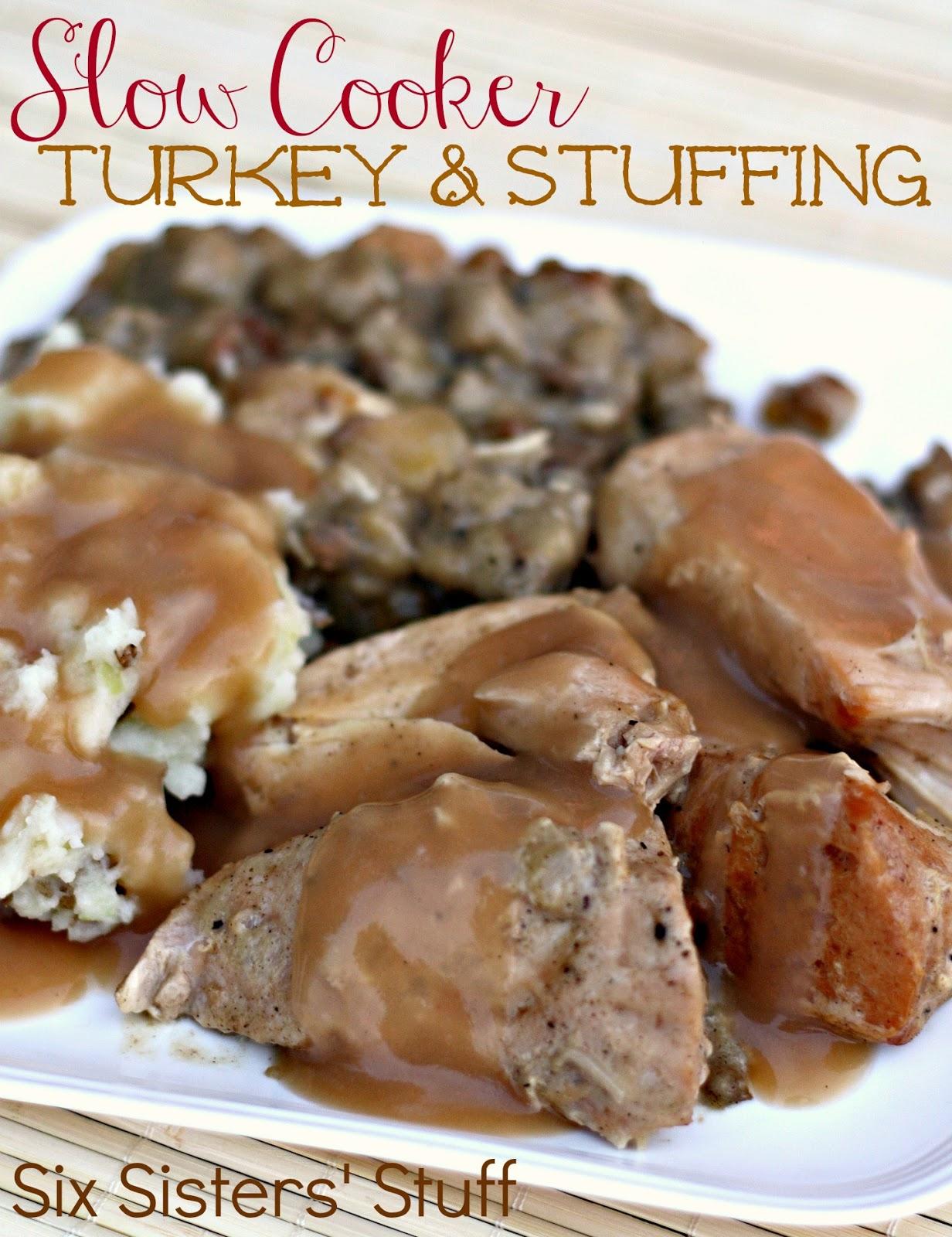 Slow Cooker Turkey and Stuffing   Six Sisters' Stuff