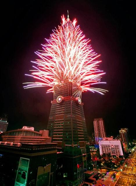 Fuegos Artificiales, año nuevo 2014, Taiwan