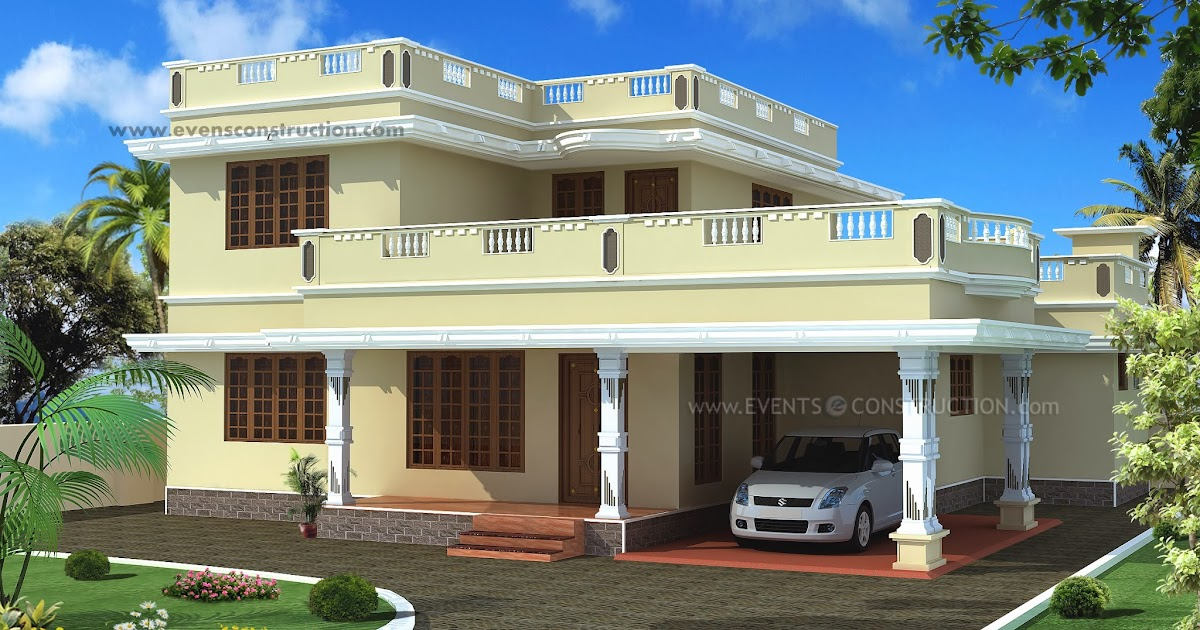 Evens construction pvt ltd flat roof house exterior in for Villa interior designers ltd nairobi kenya