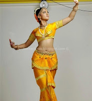 Anushka, shetty, hot, navel, in, classical, dress