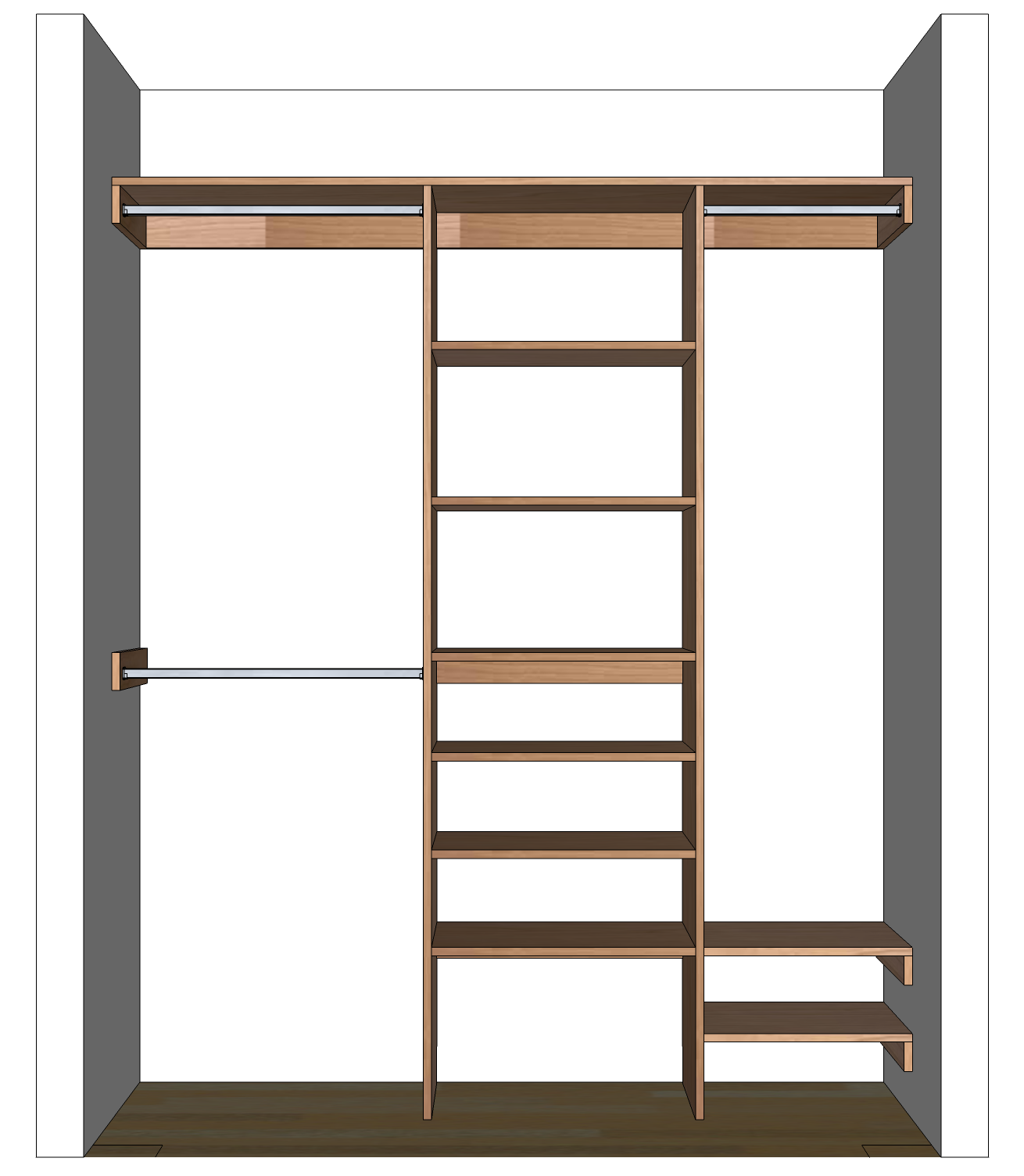 Built In Closet Shelves Plans