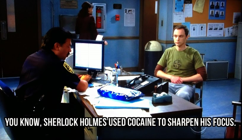 Sherlock Holmes used cocaine to help him focus.