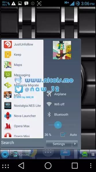 memasang Navigasi Tombol Start Menu Windows di Android