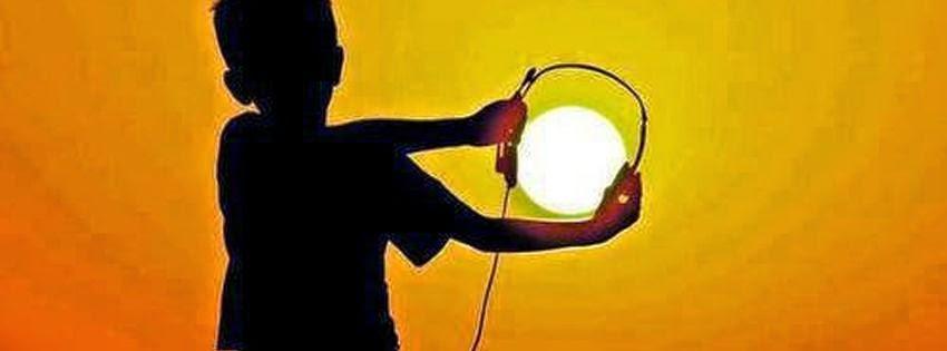 Image couverture facebook casque et soleil