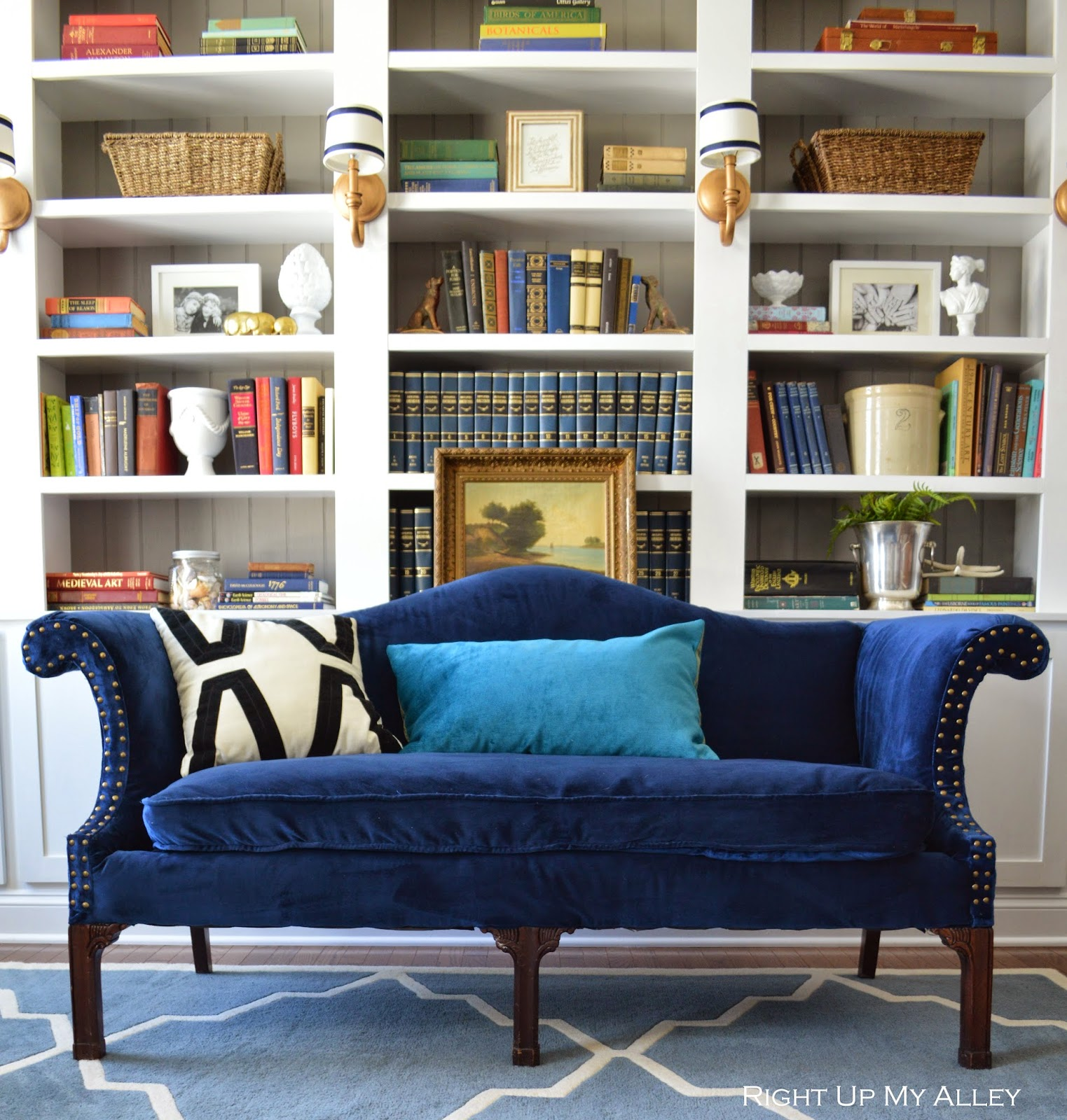 Right up my alley the courage to reupholster a sofa and - How to reupholster a living room chair ...