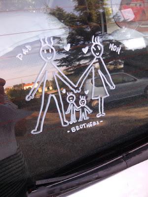 La mia famiglia sulla mia car
