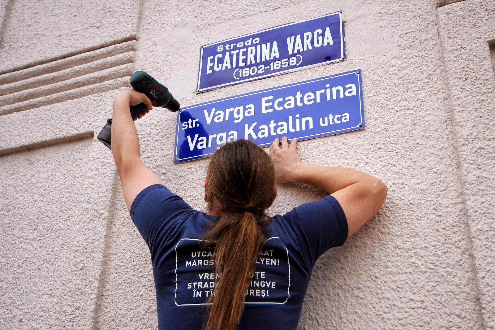 Valentin Bretfelean, Marosvásárhely, Civil Elkötelezettség Mozgalom, kétnyelvű utcanévtáblák,