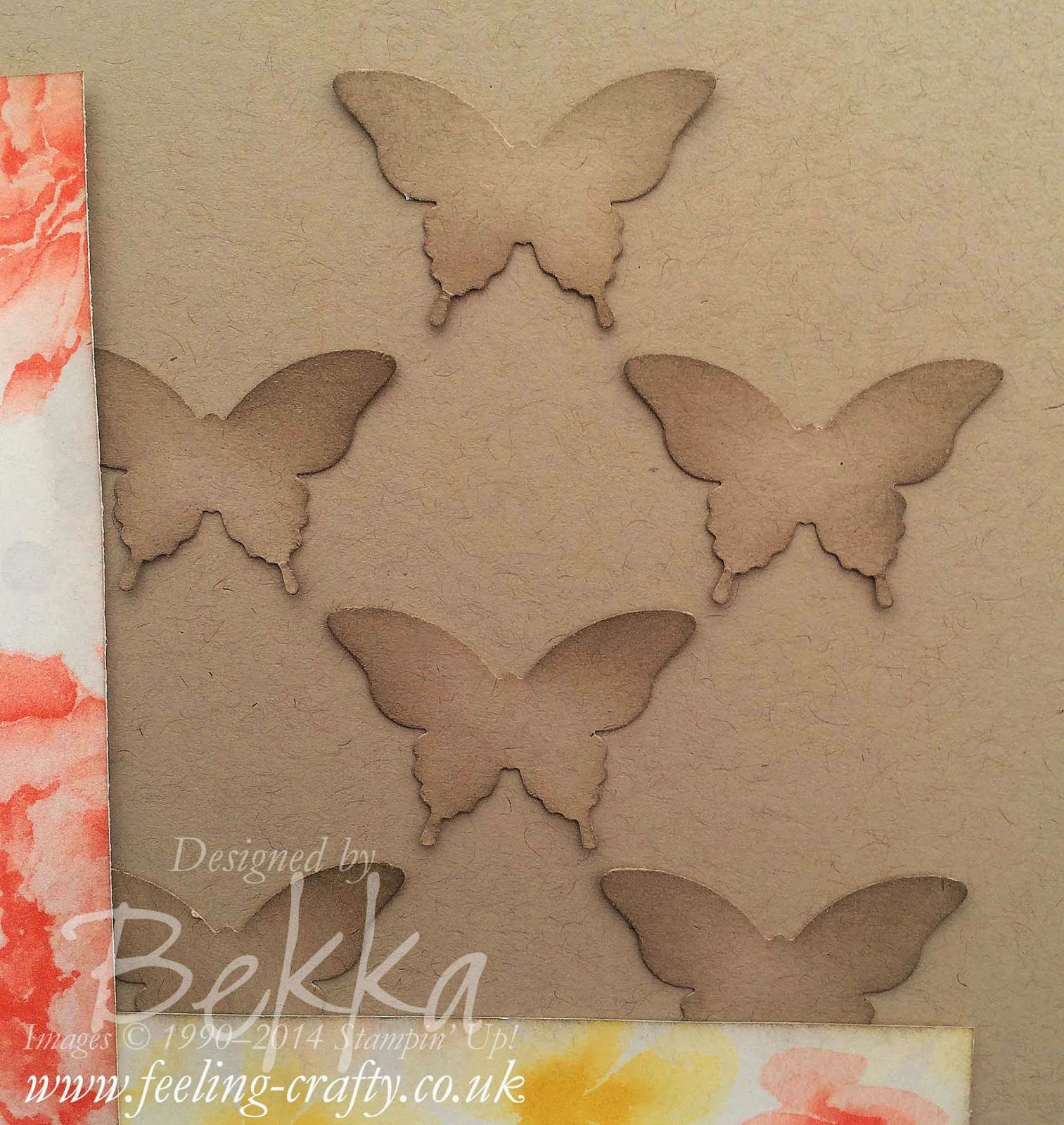 Beautiful Butterfly Details of a Scrapbook Page by UK based Stampin' Up! Demonstrator Bekka - check her blog every Saturday for Scrapbook Ideas