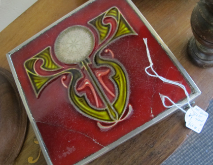 decorative art deco vintage trivet