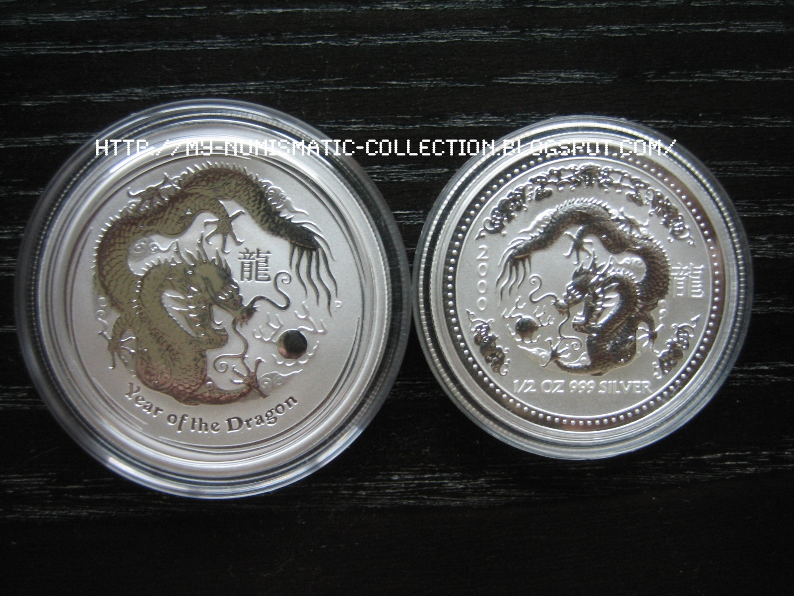 Numismatic Collection 2012 Year Of Dragon 1 2 Oz