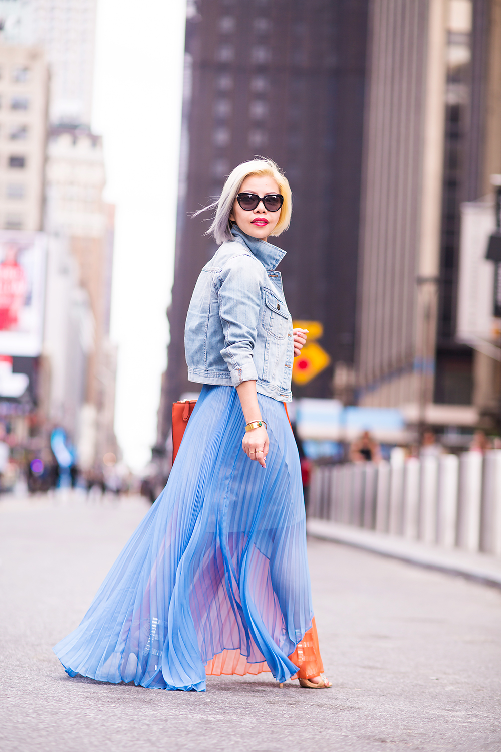 Crystal Phuong- New York Fashion Week 2015- Day 4 street style on point