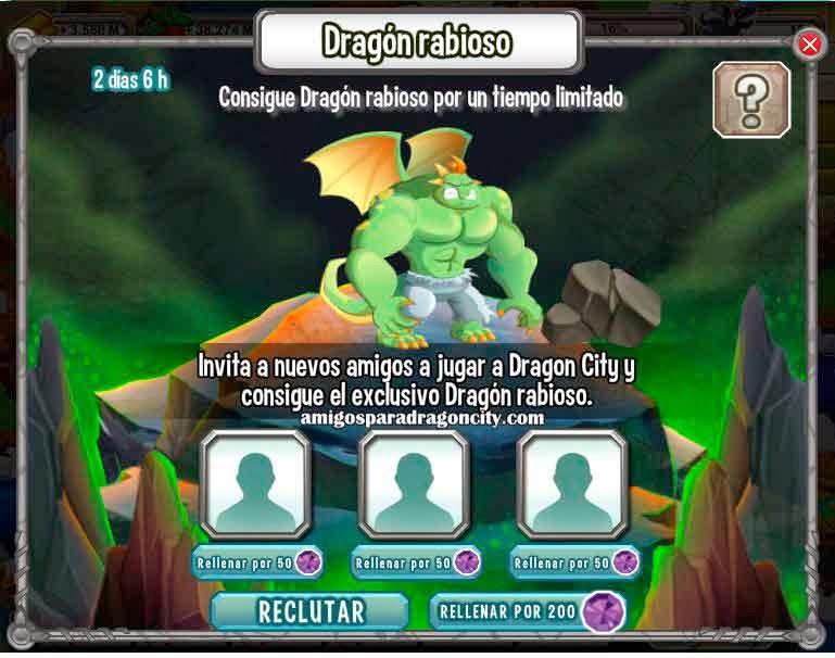 Dragon Rabioso Gratis En Dragon City  Amigos Para Dragon City