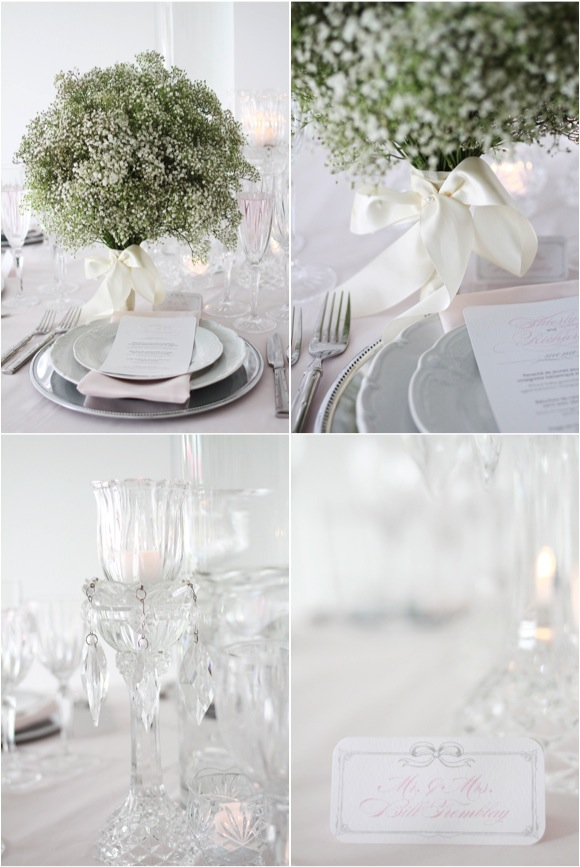 Azar used beautiful cut crystal accents with a soft and serene color ...