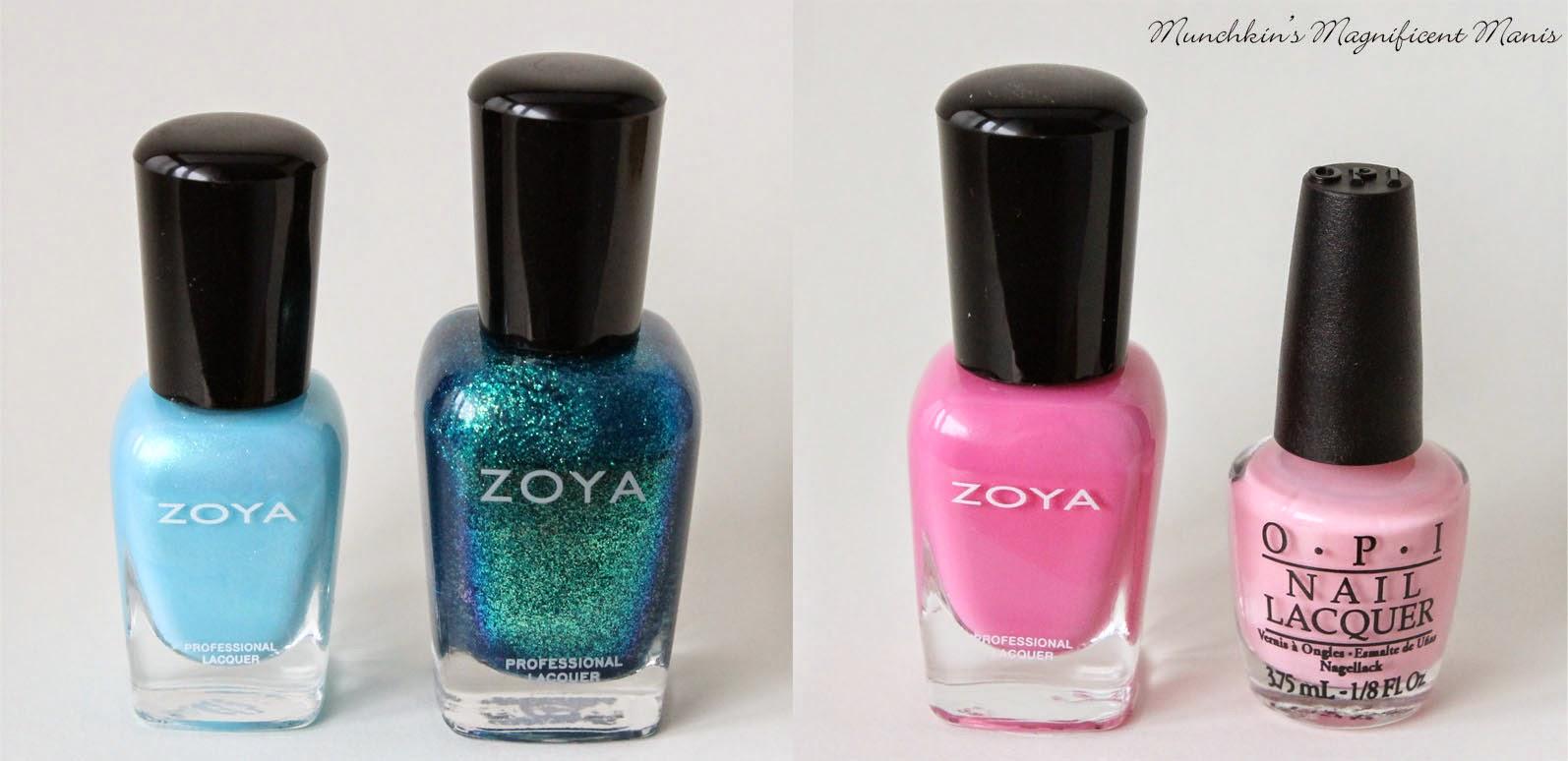 Zoya full size, Zoya mini, OPI mini