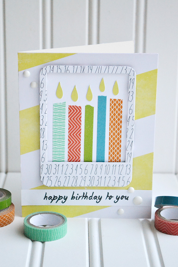 Aly dosdall washi tape birthday candles - Washi tape ideen ...
