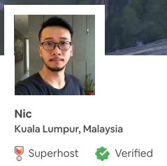 Airbnb - Nic's Pad (click below)