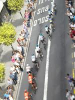 ciclistas en la zona de cabeza