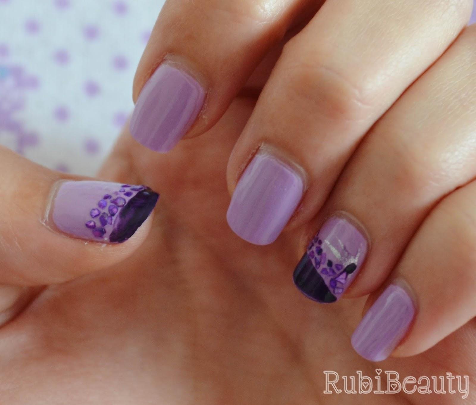 nail art rubibeauty kiko lavanda 330 manicura sencilla