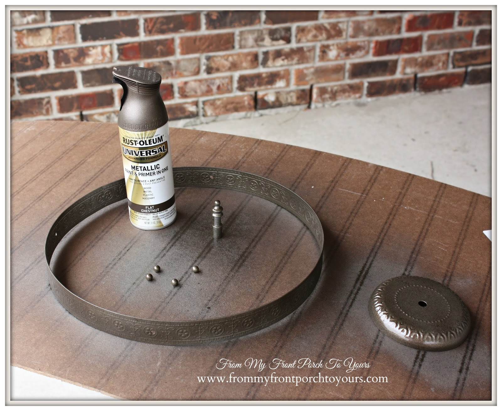 Industrial Farmhouse Light-Spray Painting Light Fixture- From My Front Porch To Yours