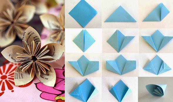 Dobraduras de flores para o dia das m es ou primavera for Small flowers for crafts