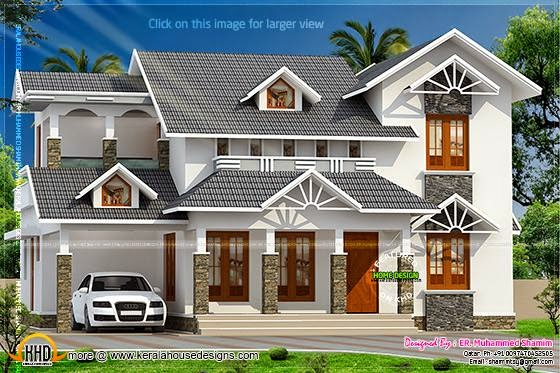 Ash color roof house