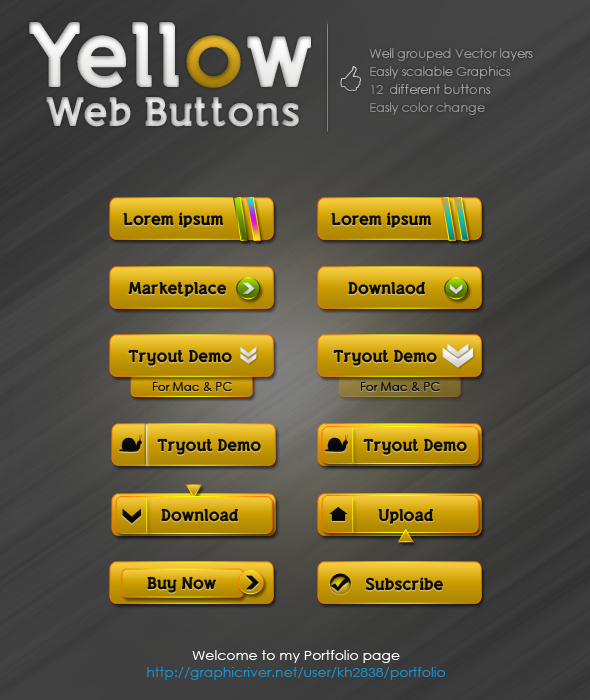 80+ Free Glowing Glossy Web Buttons Download