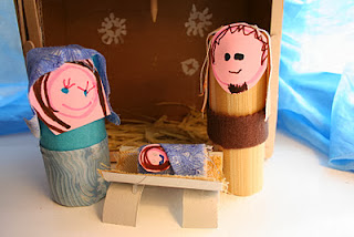 toilet paper tube nativity scene craft for kids