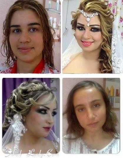 عرايس قبل وبعد المكياج