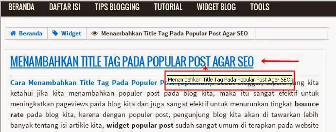 Optimasi Title Tag Otomatis Pada Judul Posting