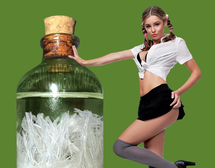 Cristales de aspirina y Keeley Hazell