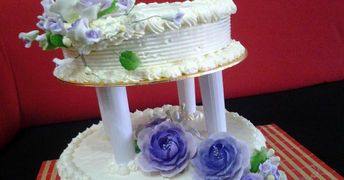 ipoh homemade chocolate kek perkahwinan di bota perak   2 tier