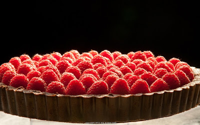 Raspberry Truffle Tart from The Ardent Cook