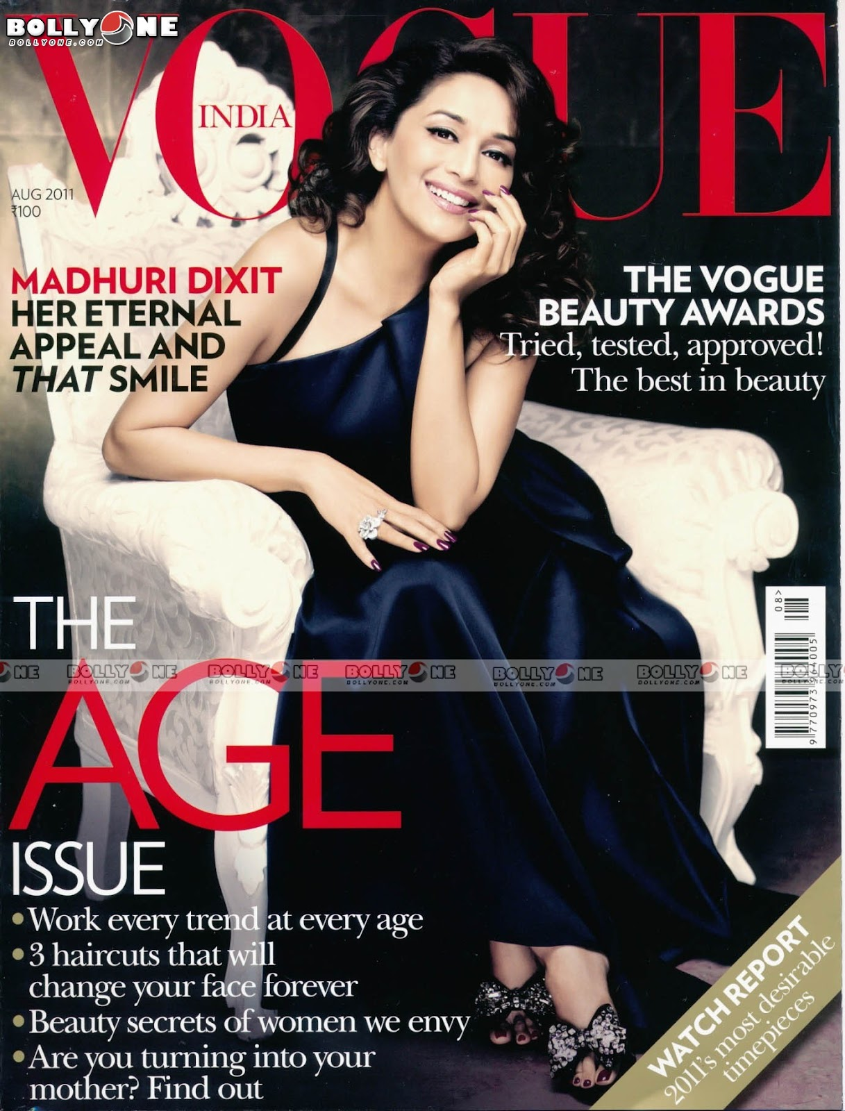 , Madhuri Dixit Vogue Magazine August 2011 Scans