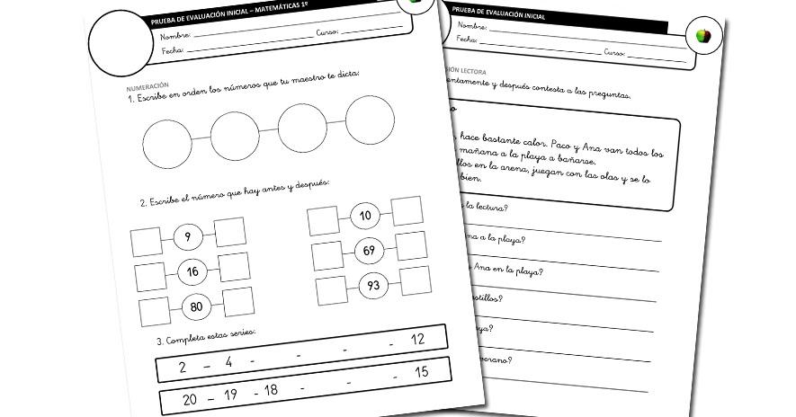 EVALUACIONES INICIALES | 4º de Primaria (Lengua y Matemáticas) ~ La ...