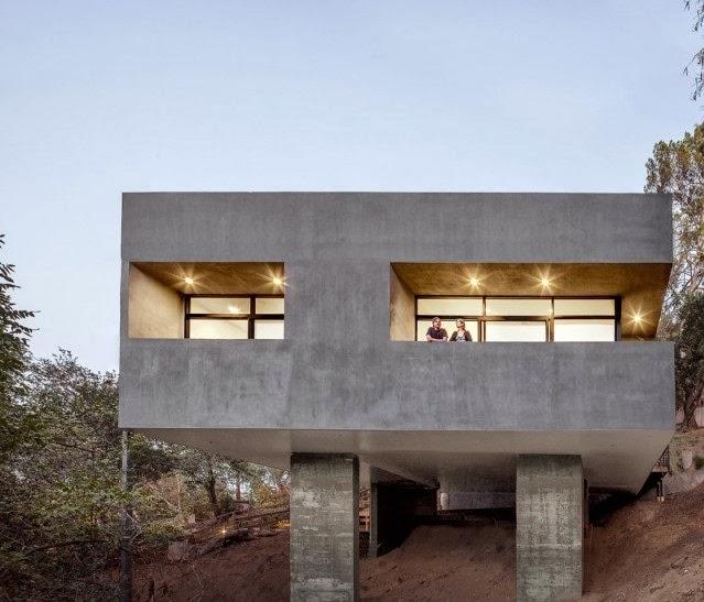 gambar desain rumah minimalis unik modern atap garasi